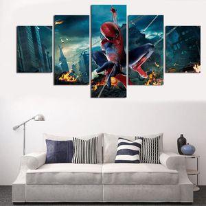 spider man poster tableau peinture sur toile tableau