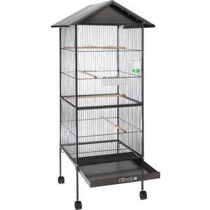 VOLIÈRE - CAGE OISEAU Volière cage à oiseaux metal hauteur 157cm