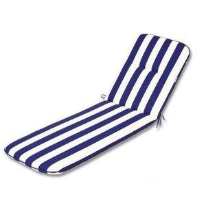 coussin pour bain de soleil bleu achat vente coussin. Black Bedroom Furniture Sets. Home Design Ideas
