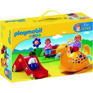 UNIVERS MINIATURE PLAYMOBIL 1.2.3. enfant et aire de jeux
