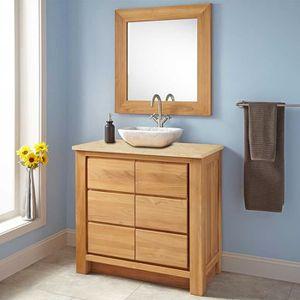 meuble salle de bain 90cm achat vente meuble salle de. Black Bedroom Furniture Sets. Home Design Ideas