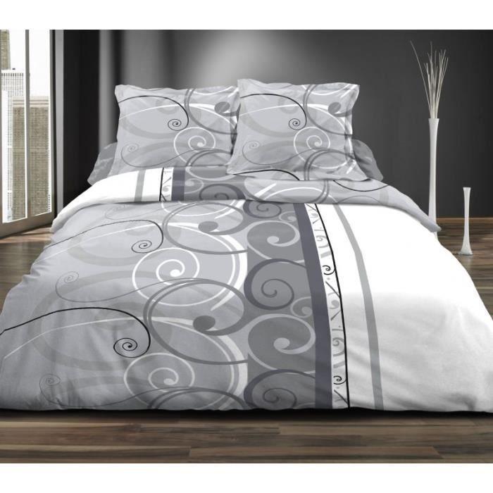 parure de drap 2 personnes 160x200 cm parure de drap lit 2. Black Bedroom Furniture Sets. Home Design Ideas