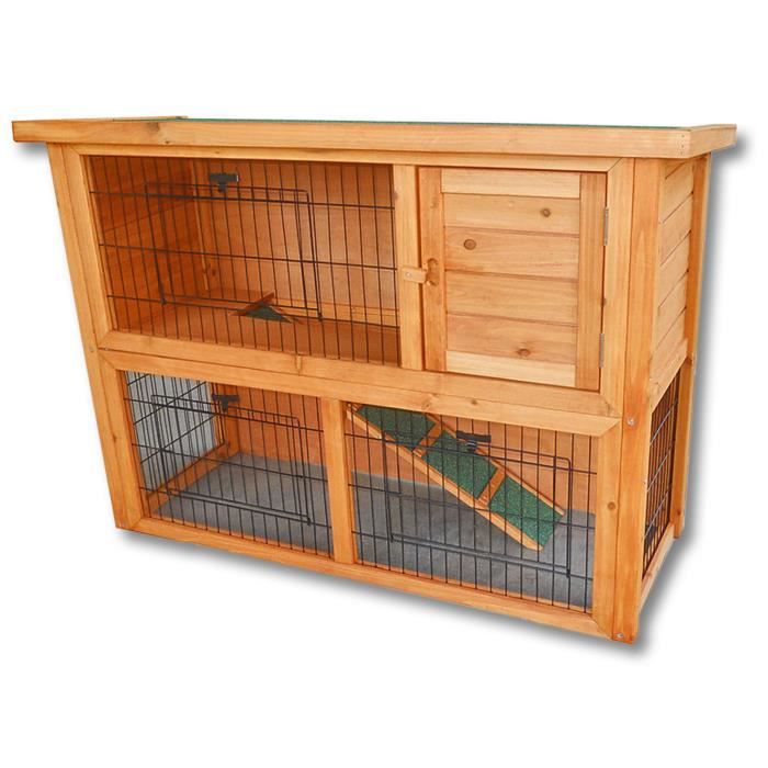 Clapier grand espace cage lapin en bois cabane pour lapin ou rongeur achat vente - 4 images 1 mot poussin lapin ...