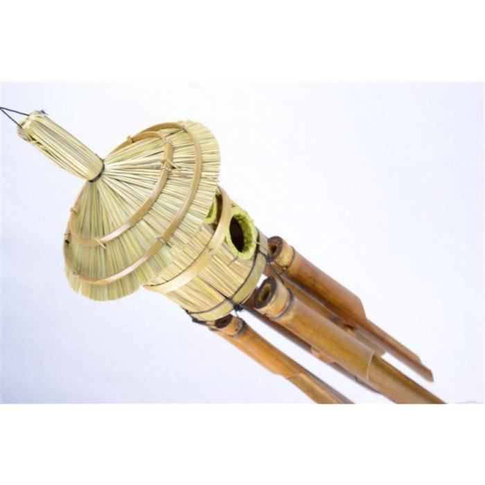 carillon vent avec nichoir rond 2 entr es bambou et paille pour int rieur ou ext rieur. Black Bedroom Furniture Sets. Home Design Ideas