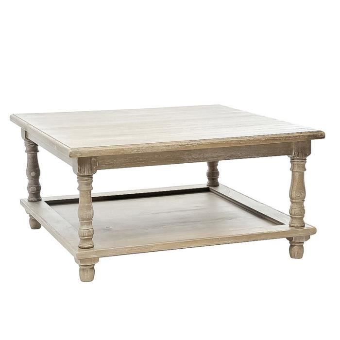 Table basse bois gris eve achat vente table basse for Table basse grande taille