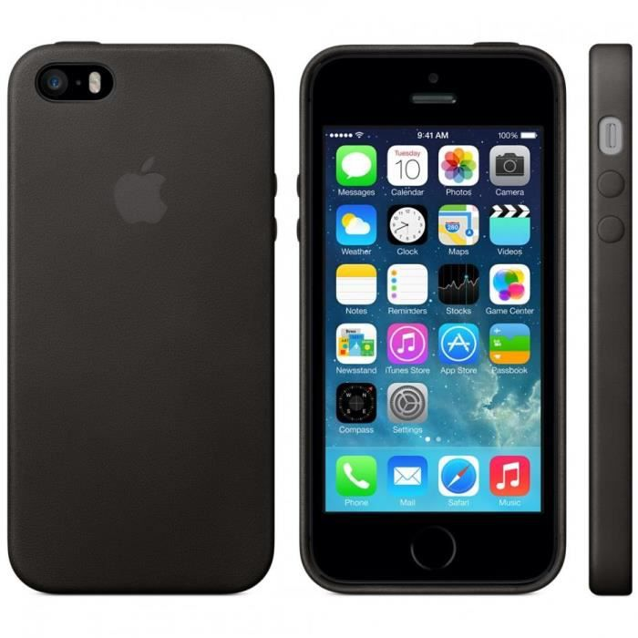 coque protection silicone iphone 5 5s noire achat coque. Black Bedroom Furniture Sets. Home Design Ideas