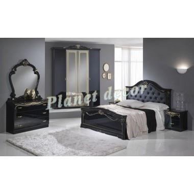 Chambre coucher model eva noir achat vente chambre for Chambre a coucher modele