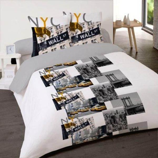 New york city trip 140x200 achat vente housse de - Housse de couette new york 140x200 ...