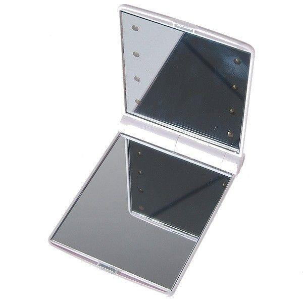 Miroir de voyage avec clairage 8 led achat vente soin for Miroir sejour