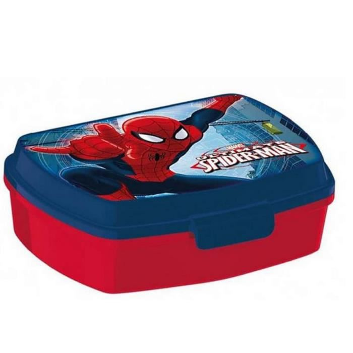 boite a gouter spiderman lunch box rouge 16 x 11 c achat vente lunch box bento boite a. Black Bedroom Furniture Sets. Home Design Ideas