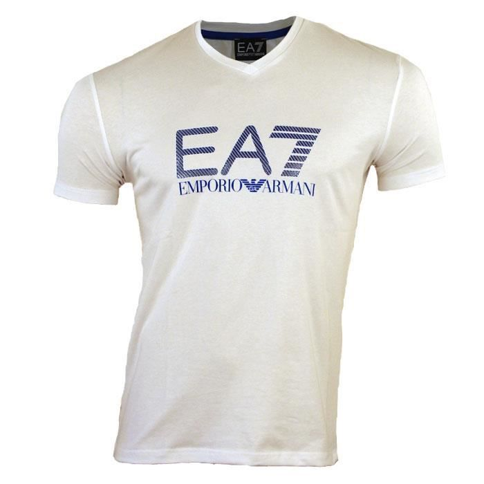 tee shirt emporio armani ea7 homme 4a206 v blanc blanc blanc achat vente t shirt cdiscount. Black Bedroom Furniture Sets. Home Design Ideas