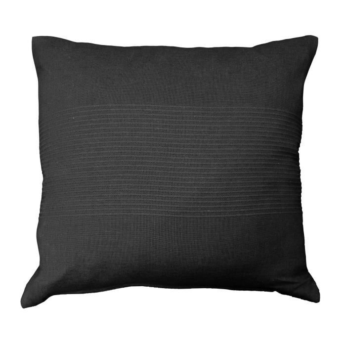 housse de coussin 100 coton 40x40 lana noir achat vente housse de coussin cdiscount. Black Bedroom Furniture Sets. Home Design Ideas
