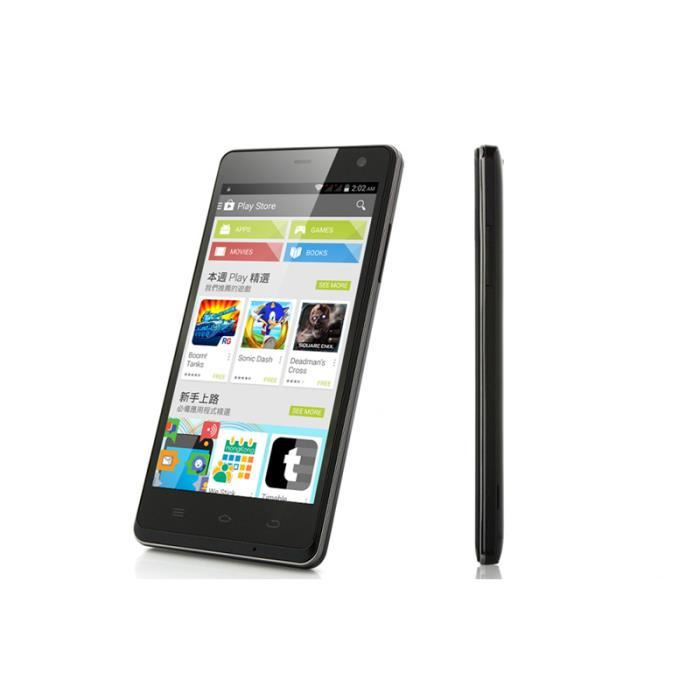 t l phone noir 5 pouces ecran gorilla glass ips smartphone prix pas cher cdiscount. Black Bedroom Furniture Sets. Home Design Ideas