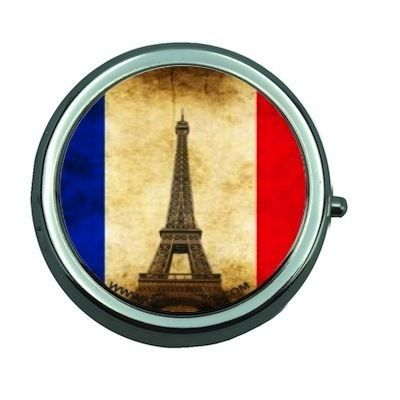 Boite pilules miroir french flag vintage achat vente for Miroir in french