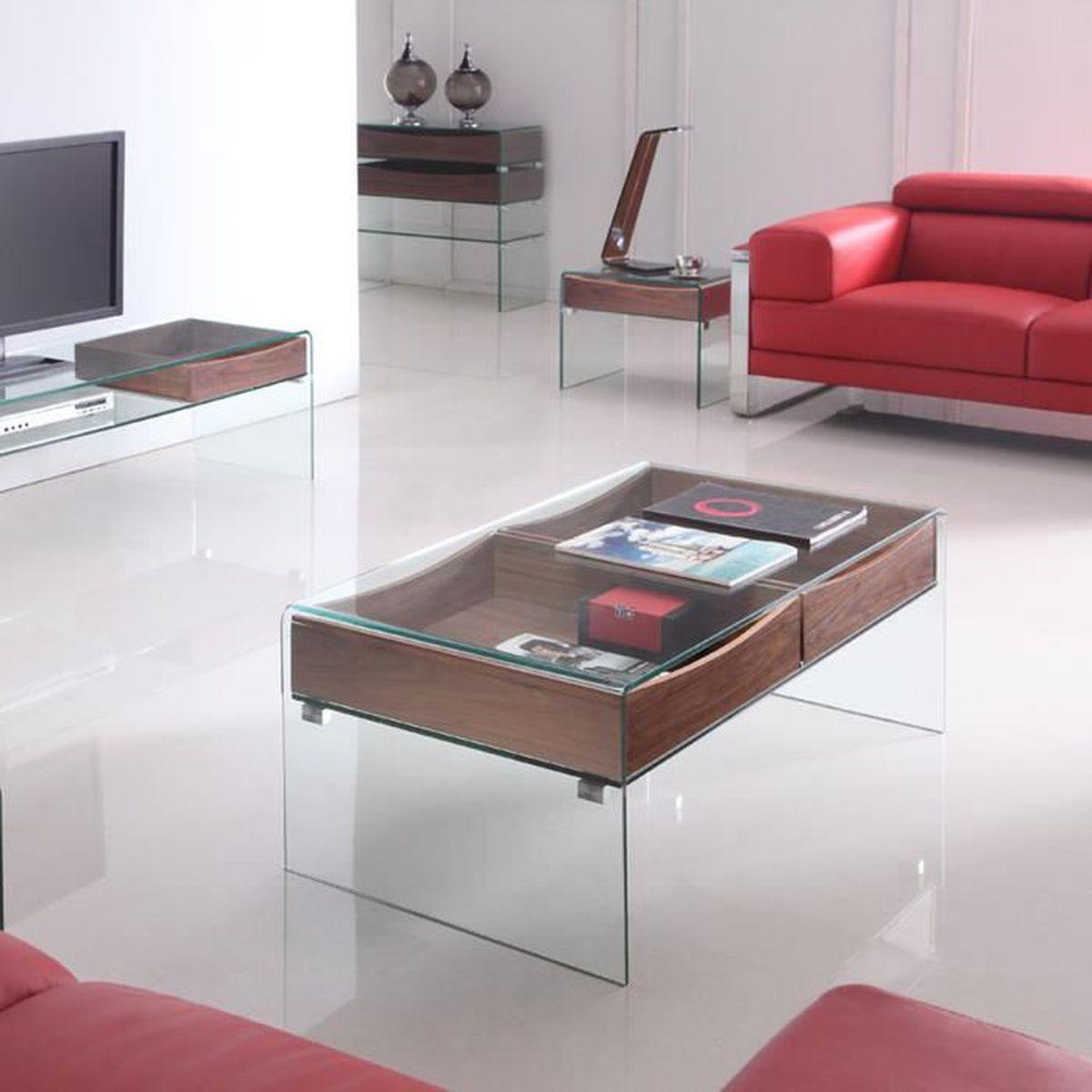 Table basse en verre glasswood achat vente table basse - Table basse en verre cdiscount ...