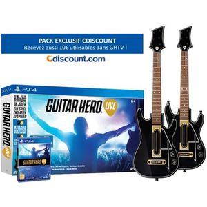 Pack Guitar Hero Live Jeu PS4 + 2 Guitares pour PS4