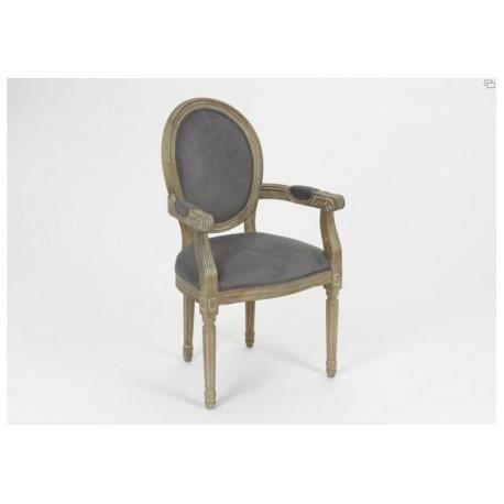 fauteuil m daillon gris amadeus achat vente fauteuil. Black Bedroom Furniture Sets. Home Design Ideas