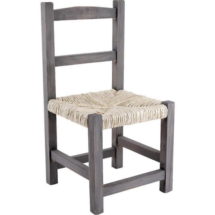 chaise enfant en bois achat vente chaise bois paille. Black Bedroom Furniture Sets. Home Design Ideas