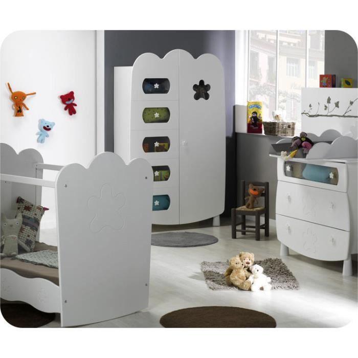 eb chambre b b lin a blanche avec lit plexi achat vente chambre compl te b b eb. Black Bedroom Furniture Sets. Home Design Ideas