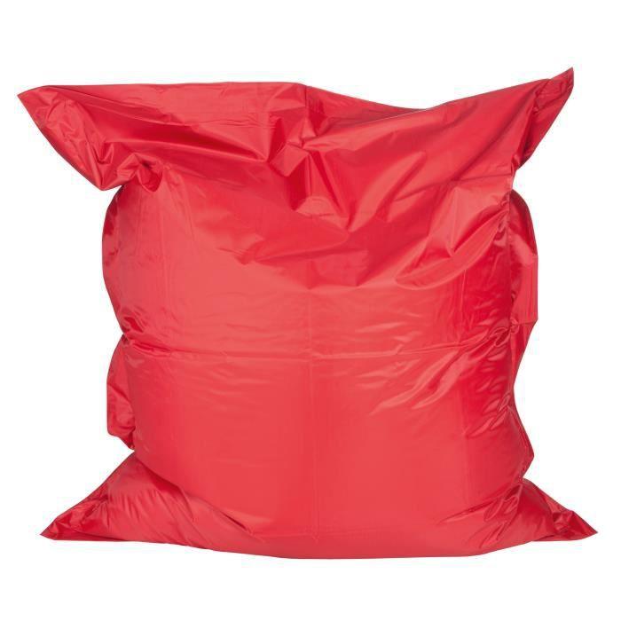 pouf optilon rouge achat vente pouf poire cdiscount. Black Bedroom Furniture Sets. Home Design Ideas
