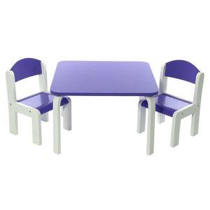 Ensemble table chaise enfant achat vente ensemble for Table chaise bois enfant