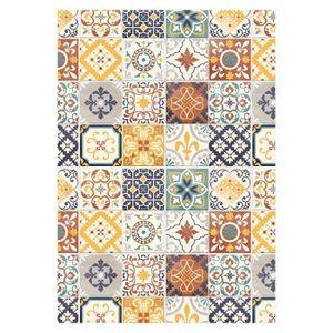 tapis carreaux de ciment achat vente tapis carreaux de ciment pas cher les soldes sur. Black Bedroom Furniture Sets. Home Design Ideas