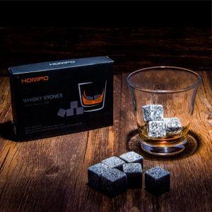 SEAU - RAFRAICHISSEUR  HOMPO® Lot de 9 Whisky à Pierres en Granit Glaçons