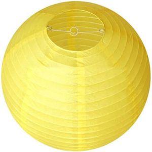 lampion papier jaune achat vente lampion papier jaune pas cher cdiscount. Black Bedroom Furniture Sets. Home Design Ideas