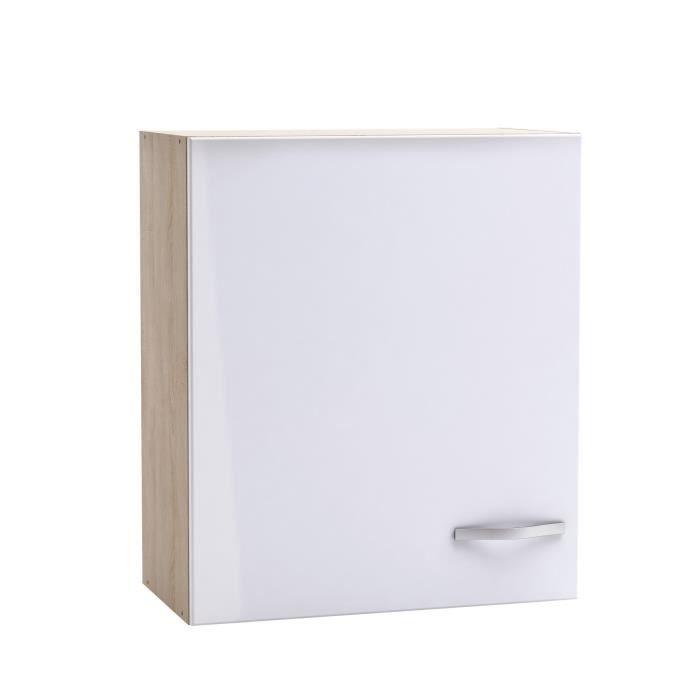 Chantilly caisson haut de cuisine 60cm d cor ch ne et for Meuble cuisine haut blanc