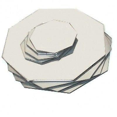 6 argent napperons miroir octogone et sous verres achat for Miroir acrylique incassable