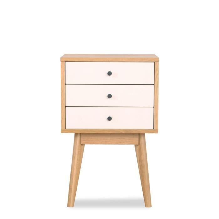 Meuble de rangement design scandinave 3 tiroirs skoll - La redoute petit meuble de rangement ...