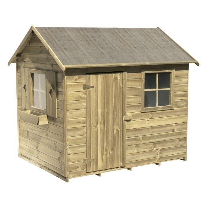 Cerland maisonnette bois pour enfant libellule achat for Maisonnette smoby occasion