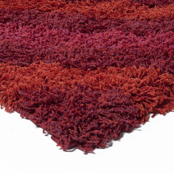 Highline 120x170 2401 2905 bordeaux achat vente tapis cdiscount - Tapis shaggy bordeaux ...
