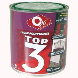 Oxi peinture top 3metaux bois 500ml noir m achat vente peinture vernis cdiscount for Peinture bois noir