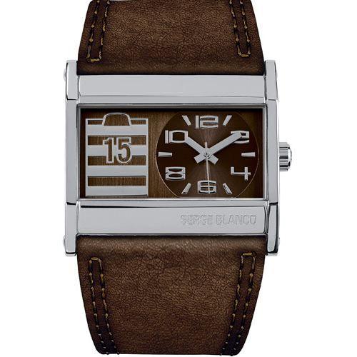 bracelet montre cuir serge blanco. Black Bedroom Furniture Sets. Home Design Ideas