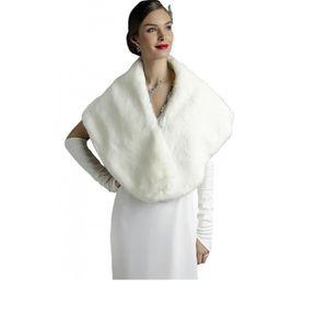 echarpe foulard etole enveloppante de mariage femme fausse fourrur - Etole Mariage Pas Cher