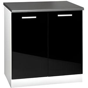 meuble bas cuisine noir laque achat vente meuble bas cuisine noir laque pas cher cdiscount. Black Bedroom Furniture Sets. Home Design Ideas