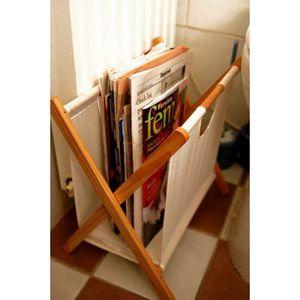 Porte journaux en bois achat vente porte journaux en bois pas cher cdis - Range revue pas cher ...