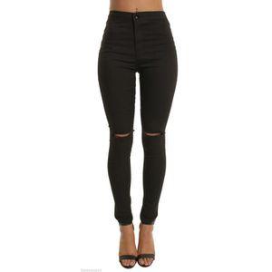 vetement femme jean noir troue achat vente vetement femme jean noir troue pas cher soldes. Black Bedroom Furniture Sets. Home Design Ideas