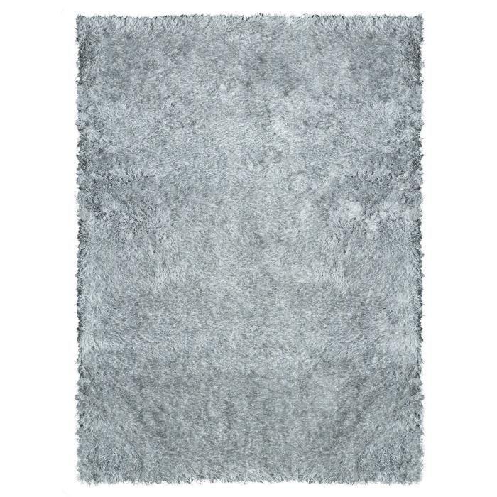 Tapis de salon shaggy love gris achat vente tapis 100 for Tapis de salon gris