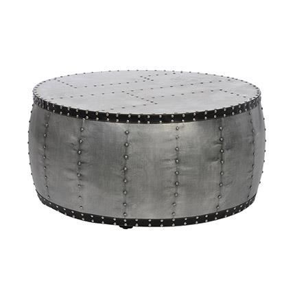 Table basse ronde aviation bois m tal cout achat for Table ronde bois metal