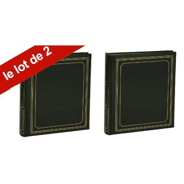 lot de 2 albums photo empire vert 100 pages noires achat vente album album photo lot de 2. Black Bedroom Furniture Sets. Home Design Ideas