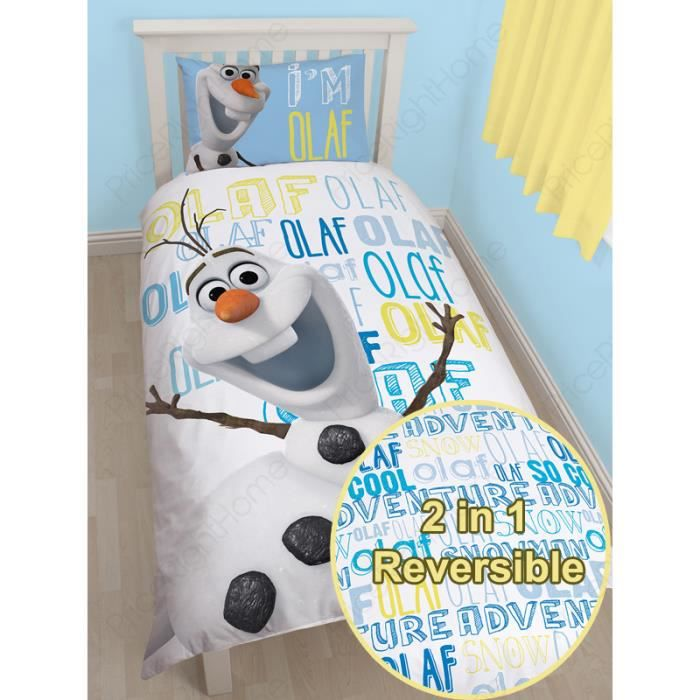 la reine des neiges parure de lit olaf achat vente. Black Bedroom Furniture Sets. Home Design Ideas