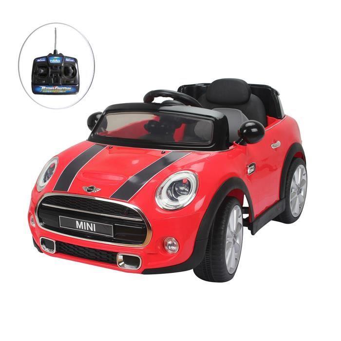 voiture lectrique mod le mini rouge pour enfant a achat. Black Bedroom Furniture Sets. Home Design Ideas