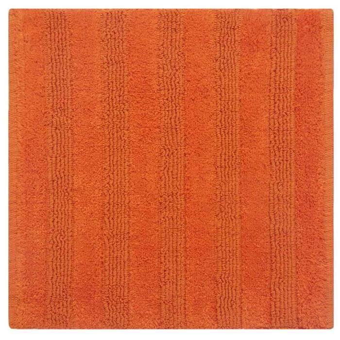 Tapis De Bain Orange Ray En Coton Peign 50 X 50 Cm Achat Vente Tapis De Bain 2009915263751