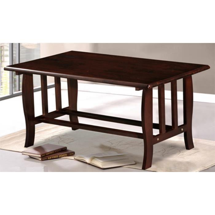 Table basse en bois brun fonc dimensions 9 achat for Table basse bois fonce