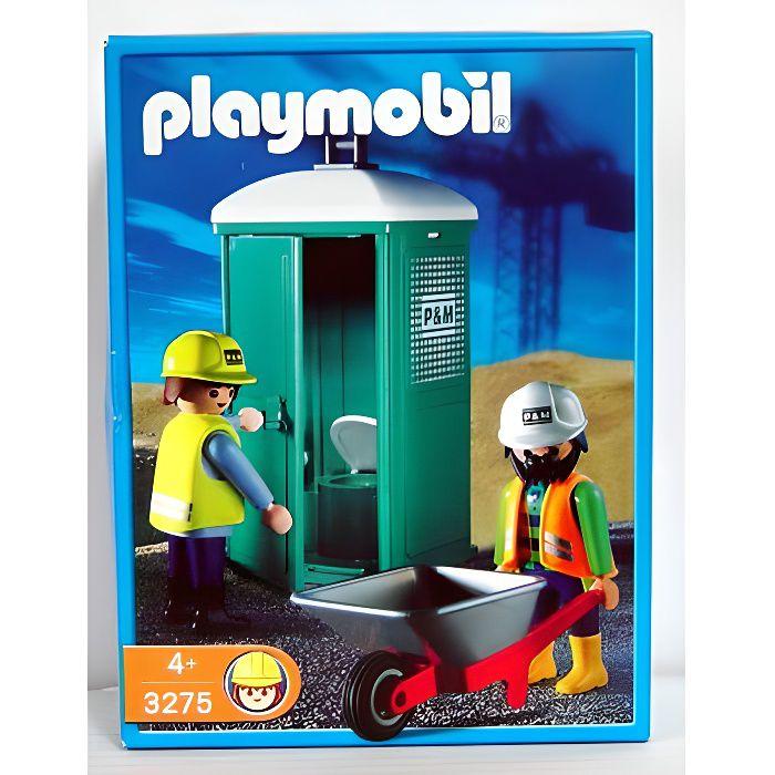 playmobil ouvriers et toilettes mobiles achat vente univers miniature cdiscount. Black Bedroom Furniture Sets. Home Design Ideas