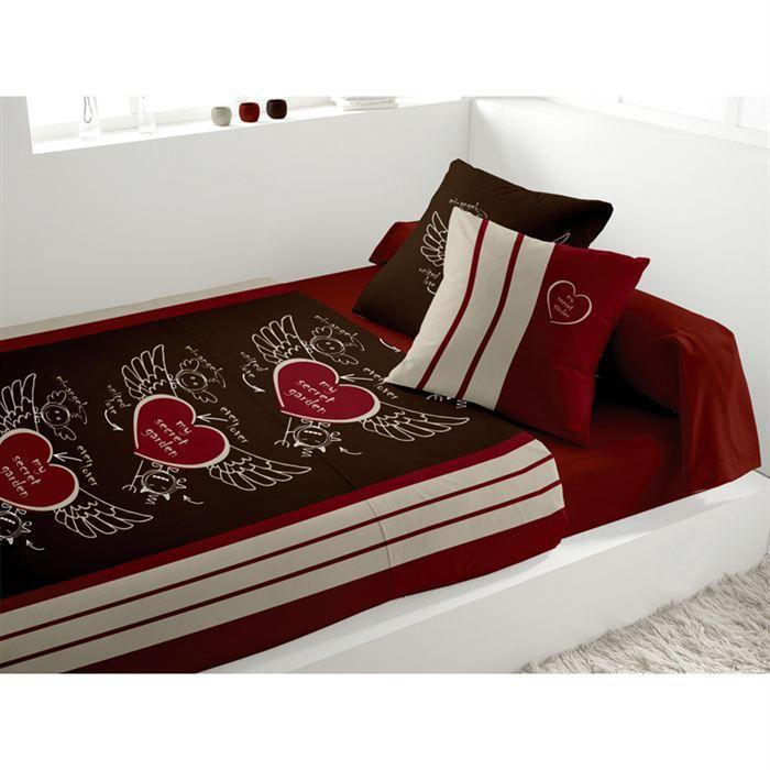 parure de lit secret chocolat achat vente parure de drap cdiscount. Black Bedroom Furniture Sets. Home Design Ideas