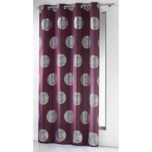 Rideaux couleur prune achat vente rideaux couleur prune pas cher cdiscount for Rideau prune