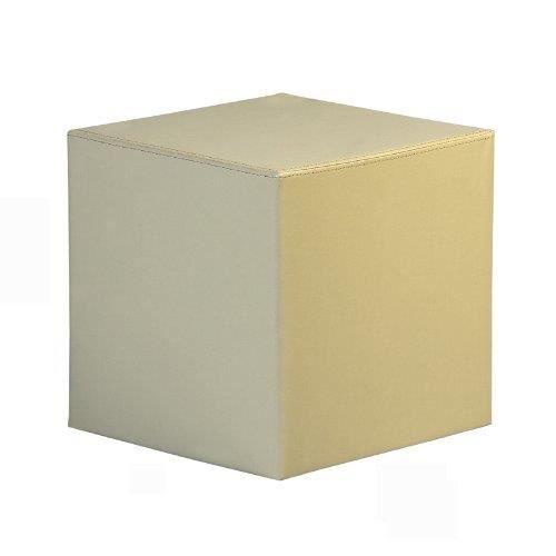 cube en plastique rev tu en faux cuir dim h 40 l 40 p 40 disponible en diff rentes couleurs. Black Bedroom Furniture Sets. Home Design Ideas